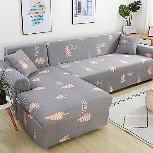 Funda de sofá elástica, Utilizada para la decoración de la Sala de Estar, Funda de sofá de impresión, Suave, Universal, Funda elástica de sección Transversal A14, 4 plazas