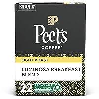 Peet's Colombia Luminosa Light Roast Coffee - Keurig K-Cup Pods - 22ct ピーツコーヒー [Luminosa Breakfast Blend] K cup コーヒー 22個入り ライトロースト [海外直送品] [並行輸入品]