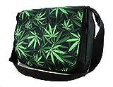 Ferocity Borsa Messenger cartella del messaggero Laptop Bag Marihuana [052]