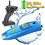 SZJJX RC, 2.4GHz with Long Battery Life, Remote Control Racing Boats for Pools and Lakes, 10Km/H Speed Toys...