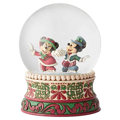 Disney Tradition 6002832 - Mickey & Minnie navidad, bola de nieve