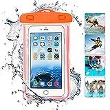 ONX3 Orange Universal wasserdichte Handy Strand Pool Regen Dokument Wertsachen Schutzhülle Tasche kompatibel mit Lenovo Vibe P1