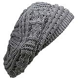 (ディグズハット)DIGZHAT サマーコットンデザイン編みニットベレー帽 薄手 レディース メンズ ニット帽 帽子 (グレー)