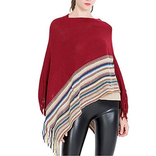 Amorar Bufanda Mujere Invierno cálido mantón Bufanda Larga del Abrigo de Crochet con Capucha de Invierno Elegante