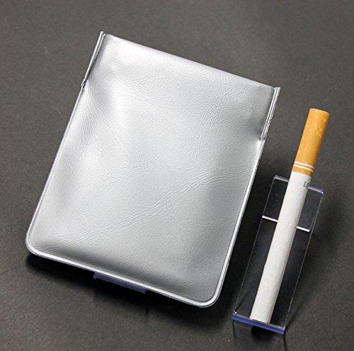 携帯灰皿 おしゃれ ポケット灰皿 ちっポケレギュラーサイズ銀無地1個(薬ピルケース、小銭入れ、日本製)