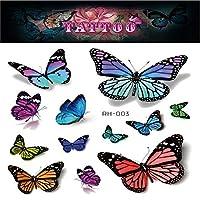 蝶の一時的な入れ墨、5枚キッズガールズボーイズ誕生日パーティー用品のための一時的な入れ墨ステッカーリムーバブルステッカー,Rh 003