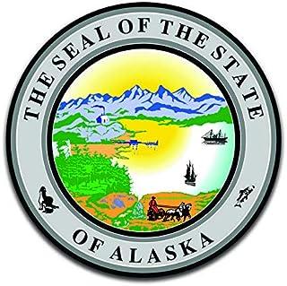 ALASKA State Flag SEAL 2 bumper stickers decals USA