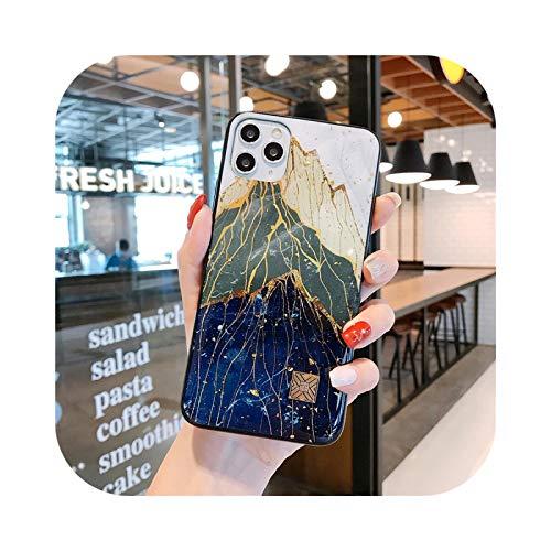 Carcasa de silicona para iPhone X XR 6 S 7 8 Plus-D59-For iPhone Xs Max SE de color dorado