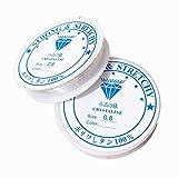 Lnvision 2xSpule 0.8mm Elastisch Schmuckfaden Gummifaden Transparent Faden für Perlenschmuck Armbänder Basteln