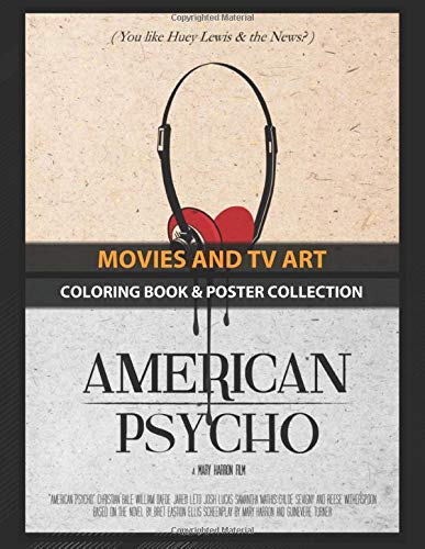 Coloring Book & Poster Collection: Movies And Tv Art American Psycho Art Movie Classic Movies