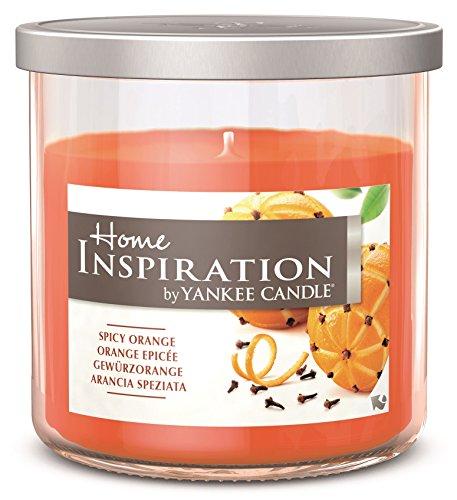 Home Inspiration by Yankee Candle-Especias Naranja-Vela aromática en vaso de cristal con tapa-Color Naranja