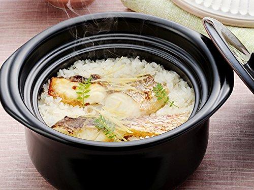 『萬古焼 銀峯陶器 菊花 ごはん土鍋 (瑠璃釉, 2合炊き)』の3枚目の画像