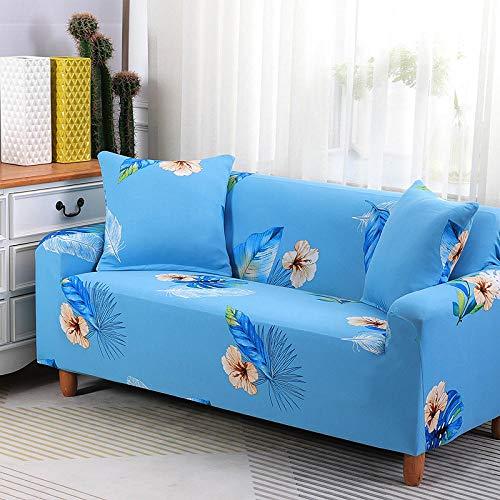 HXTSWGS L-Form Sofa Abdeckung,Stretch Sofa Cover, Stretch Fabric, Furniture Protection Cover-Blue 18_235-300cm
