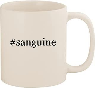 #sanguine - 11oz Ceramic Coffee Mug Cup, White