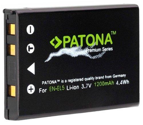 PATONA Premium Ersatz für Akku Nikon EN-EL5 (echte 1200mAh) neueste Generation und 100 Prozent kompatibel