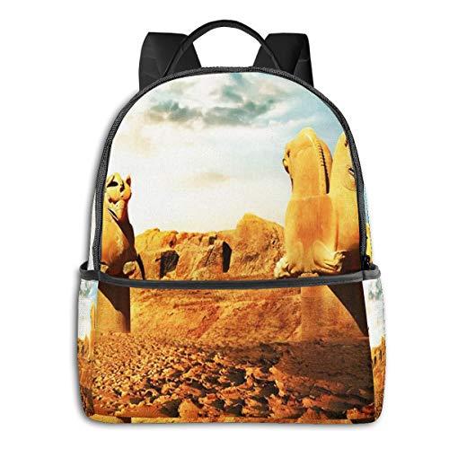 SGSKJ Mochila Tipo Casual Mochila Escolares Mochilas Escolar Estilo Impermeable para Viaje de Ordenador Portátil para Hombre Mujer Esculturas persas Grifos