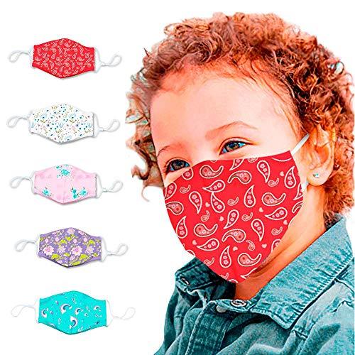 Damonday 02 - Bandana de tela para niños de algodón,
