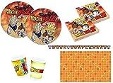 Little Flight Dragon Ball Z Goku e Vegeta Coordinato ADDOBBI TAVOLA Festa A Tema per 24 Bambini Kit(24 Piatti,24 Bicchieri,40 TOVAGLIOLI,1 TOVAGLIA,1 Festone)