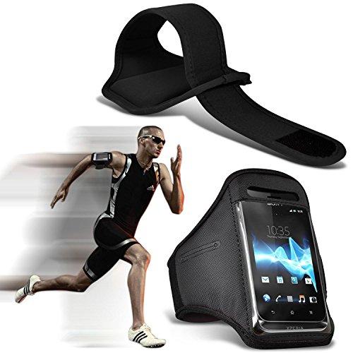 i-Tronixs (Schwarz) Doogee T6 pro hülle, Tasche hohe Qualität mit Sport Armbänder mit dem Fahrrad Radfahren Fitnessraum Jogging befreien Armband hülle, Case