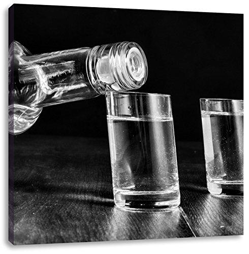 Wodka Whisky PartyCanvas Foto Plein | Maat: 70x70 cm | Wanddecoraties | Kunstdruk | Volledig gemonteerd