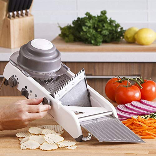 Lekoch Stainless Steel Mandoline Slicer Manual Adjustable Vegetable Fruit Julienne Onion Waffle French Fry Kitchen Cutter Tools
