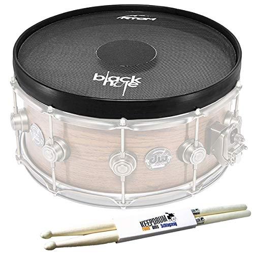 "RTOM BLKHOL14 Black Hole 14"" Mesh Practice Pad + keepdrum Drumsticks"