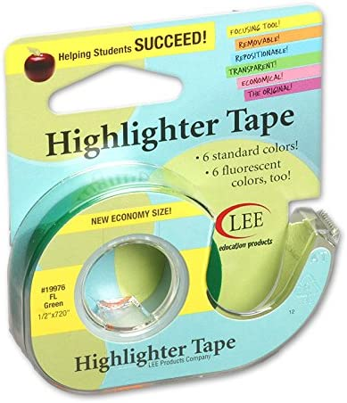 LEE PRODUCTS COMPANY REMOVABLE HIGHLIGHTER of TAPE Set supreme Quantity limited 12