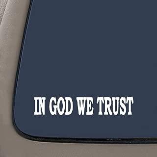 NI173 In God We Trust   Tea party SECOND AMENDMENT   8.5x1.5 Inch   Premium Quality Decal STICKER Christian