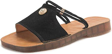 Womens Wide Clear Band Glitter Sole Slide Sandals
