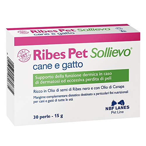 Nbf Lanes, Ribes Pet Sollievo, Mangime complementare dietetico, 30 perle, 15 g
