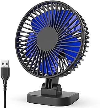 BYEBUG 3 Speeds USB Desk Fan for Better Cooling