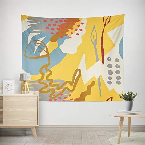 WERT Planta Abstracta Tapiz Colgante de Pared Manta de Arte Sala de Estar Dormitorio Dormitorio decoración del hogar Mantel Picnic Toalla de Playa A4 150x130cm