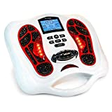 Circulation Plus EMS & TENS Foot Muscle Stimulator Machine - Two-System Circulation Booster for Feet and Body - Feet Legs Circulation Devices with Remote Controller, Developed in USA