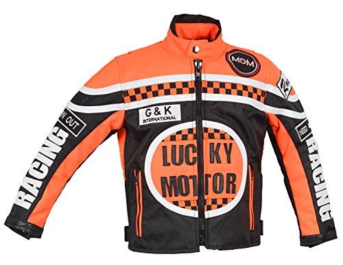 MDM Kinder Motorrad Jacke, Racing Jacke (3XL)