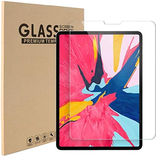 RASH Accessories Screen Protector for iPad Air 4 10.9-Inch, iPad Pro 11-Inch 2020 and 2018 Release Edge to Edge Liquid Retina Display, Face ID Compatible, Tempered Glass Film Transparent