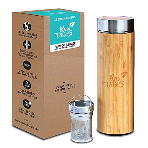Raw Vibes Vacuum Insulated Stainless Steel Travel Mug for Hot and Cold Beverages