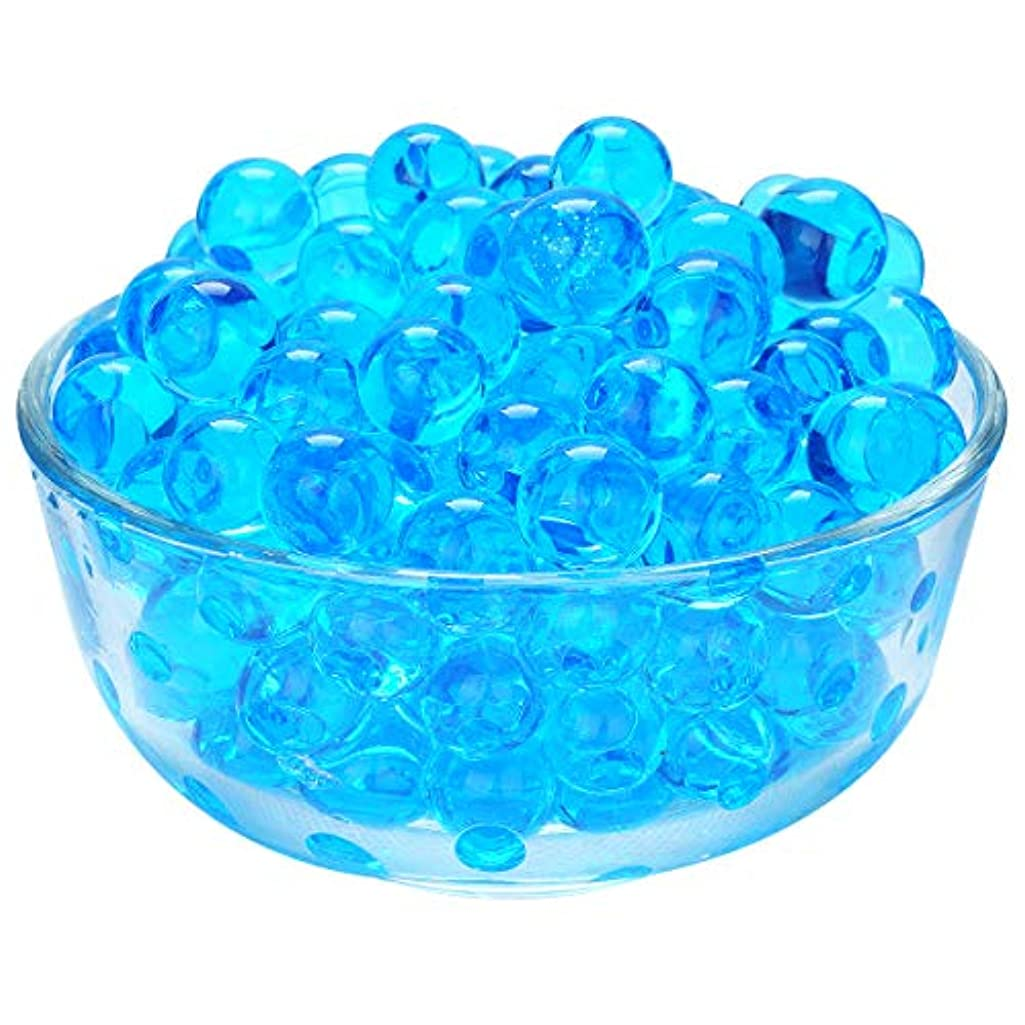 LOVOUS 3000 Pcs Water Beads, Crystal Soil Water Bead Gel, Wedding Decoration Vase Filler - Furniture Decorative Vase Filler, All Occasion Table Centerpiece Decorations (Blue)