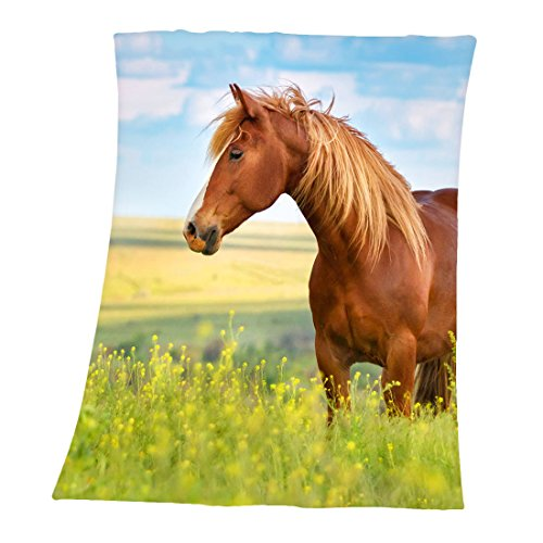 Herding YOUNG COLLECTION fleece knuffeldeken, paardenmotief, 130 x 160 cm, polyester