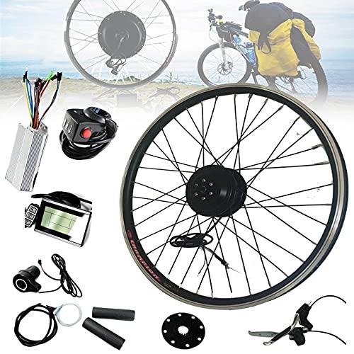 """Kit de motor eléctrico de bicicleta, 36v 350w 20 """"/ 24"""" / 26 """"/ 28"""" Kit de conversión de bicicleta eléctrica de rueda delantera y trasera con engranajes - Kit de bicicleta eléctrica,FrontWheel-26INCH"""