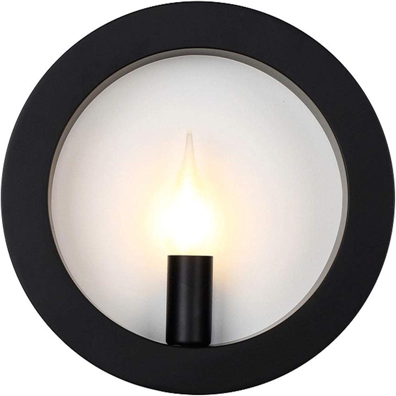 HJGYT Moderne minimalistische nordische kreative Kunstbeleuchtungskorridorgangschlafzimmerwohnzimmerstudie der Wandleuchten dekorative Beleuchtung (Farbe   Weies Licht)