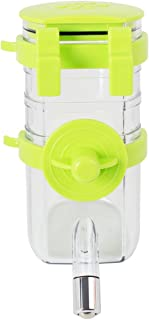 Luck Dawn Pet Water Bottle Dispenser, No Drip Automatically Hanging Dog Water Bottle with Stainless Steel Pipe for Puppy Rabbit Small Animals Cage Water Feed