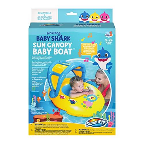 SwimWays Baby Shark Boat w/ Music