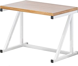 Adaskala 2 Tier Microwave Stand Wooden Microwave Oven Rack Shelf Kitchen Counter Storage Organizer Tableware Space Saver W...