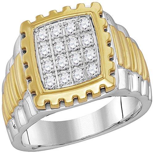Jewels By Lux Anillo de Marco Dorado con Marco de Oro para Hombres para Hombre 12.5