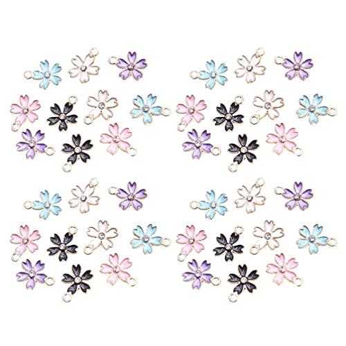 Artibetter 100 Piezas de Colgantes de Diamantes de Imitación de Flores Dijes de Aleación Colgantes para Hacer Joyas Accesorios de Joyería DIY para Pulsera Pendientes Collar Llavero