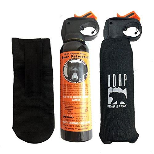 Udap 2 Personal Defense Bear Sprays w/Holsters 12VHP