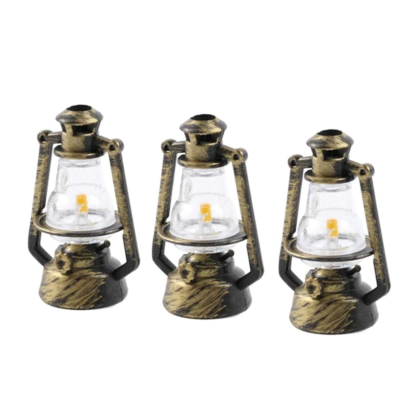 情熱紳士削除するHealifty オイルランタンデスクトップ装飾レトロ灯油ランプ用ホーム寝室の装飾写真撮影の小道具6ピース