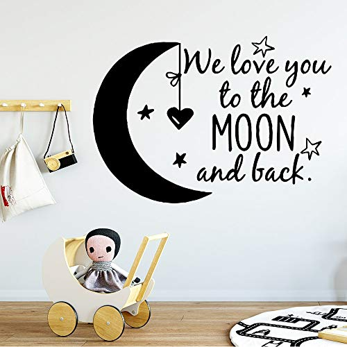 JXMN Lindas Frases de We Love You para niños, Pegatinas de Pared para habitación de bebé, Pegatinas de Vinilo para Papel Tapiz, 114x162cm