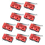 Wandefol 10 Pcs XSS-5GL13 Micro Interrupteur 125V/250V Commutateurs avec Levier à Galet SPDT 3 Broches Micro Switch