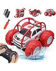 60Min fjärrkontrollbil för barn, 360 ° rotation med färgglad LED - vattentät snabb terräng 4WD 2,4 GHz radiokontroll billeksak racerbil pojke flicka 3-12 år